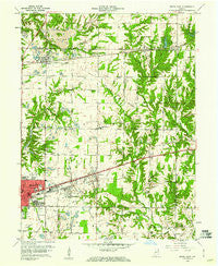 Brazil East Indiana Historical topographic map, 1:24000 scale, 7.5 X 7.5 Minute, Year 1960