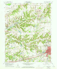 Brazil West Indiana Historical topographic map, 1:24000 scale, 7.5 X 7.5 Minute, Year 1960