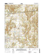 Brazil East Indiana Current topographic map, 1:24000 scale, 7.5 X 7.5 Minute, Year 2016 from Indiana Map Store