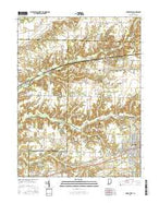 Brazil West Indiana Current topographic map, 1:24000 scale, 7.5 X 7.5 Minute, Year 2016 from Indiana Map Store