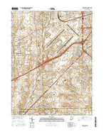Bridgeport Indiana Current topographic map, 1:24000 scale, 7.5 X 7.5 Minute, Year 2016 from Indiana Map Store