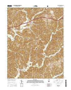 Bristow Indiana Current topographic map, 1:24000 scale, 7.5 X 7.5 Minute, Year 2016