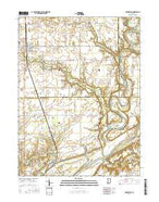 Brookston Indiana Current topographic map, 1:24000 scale, 7.5 X 7.5 Minute, Year 2016 from Indiana Map Store
