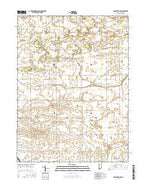 Brookston NW Indiana Current topographic map, 1:24000 scale, 7.5 X 7.5 Minute, Year 2016 from Indiana Map Store
