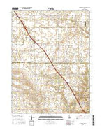 Brookston SW Indiana Current topographic map, 1:24000 scale, 7.5 X 7.5 Minute, Year 2016 from Indiana Map Store