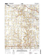 Brownsburg Indiana Current topographic map, 1:24000 scale, 7.5 X 7.5 Minute, Year 2016 from Indiana Map Store