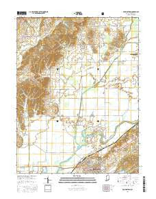 Brownstown Indiana Current topographic map, 1:24000 scale, 7.5 X 7.5 Minute, Year 2016