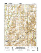Brownsville Indiana Current topographic map, 1:24000 scale, 7.5 X 7.5 Minute, Year 2016 from Indiana Map Store