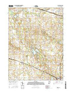 Burket Indiana Current topographic map, 1:24000 scale, 7.5 X 7.5 Minute, Year 2016 from Indiana Map Store