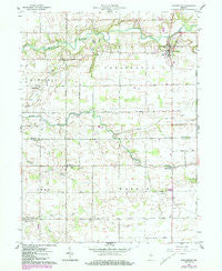 Burlington Indiana Historical topographic map, 1:24000 scale, 7.5 X 7.5 Minute, Year 1961