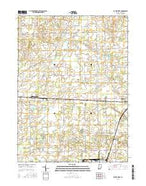 Butler West Indiana Current topographic map, 1:24000 scale, 7.5 X 7.5 Minute, Year 2016 from Indiana Map Store