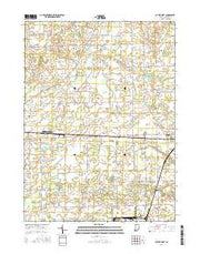 Butler West Indiana Current topographic map, 1:24000 scale, 7.5 X 7.5 Minute, Year 2016 from Indiana Maps Store