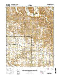 Campbellsburg Indiana Current topographic map, 1:24000 scale, 7.5 X 7.5 Minute, Year 2016