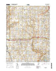 Carmel Indiana Current topographic map, 1:24000 scale, 7.5 X 7.5 Minute, Year 2016 from Indiana Maps Store