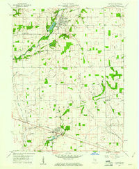 Carthage Indiana Historical topographic map, 1:24000 scale, 7.5 X 7.5 Minute, Year 1960