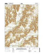 Catlin Indiana Current topographic map, 1:24000 scale, 7.5 X 7.5 Minute, Year 2016 from Indiana Map Store