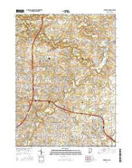 Cedarville Indiana Current topographic map, 1:24000 scale, 7.5 X 7.5 Minute, Year 2016 from Indiana Map Store