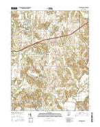 Center Point Indiana Current topographic map, 1:24000 scale, 7.5 X 7.5 Minute, Year 2016 from Indiana Map Store
