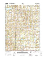 Churubusco Indiana Current topographic map, 1:24000 scale, 7.5 X 7.5 Minute, Year 2016 from Indiana Map Store