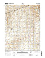 Clayton Indiana Current topographic map, 1:24000 scale, 7.5 X 7.5 Minute, Year 2016 from Indiana Map Store