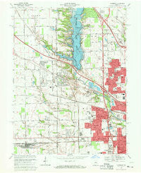 Clermont Indiana Historical topographic map, 1:24000 scale, 7.5 X 7.5 Minute, Year 1967