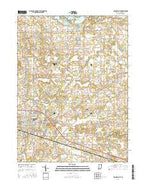 Columbia City Indiana Current topographic map, 1:24000 scale, 7.5 X 7.5 Minute, Year 2016 from Indiana Map Store