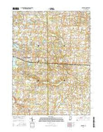 Corunna Indiana Current topographic map, 1:24000 scale, 7.5 X 7.5 Minute, Year 2016 from Indiana Map Store