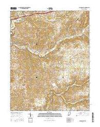 Corydon East Indiana Current topographic map, 1:24000 scale, 7.5 X 7.5 Minute, Year 2016