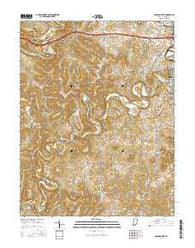 Corydon West Indiana Current topographic map, 1:24000 scale, 7.5 X 7.5 Minute, Year 2016