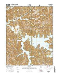 Cuzco Indiana Current topographic map, 1:24000 scale, 7.5 X 7.5 Minute, Year 2016