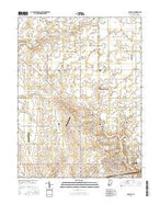 Danville Indiana Current topographic map, 1:24000 scale, 7.5 X 7.5 Minute, Year 2016 from Indiana Map Store