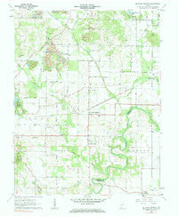 De Gonia Springs Indiana Historical topographic map, 1:24000 scale, 7.5 X 7.5 Minute, Year 1960