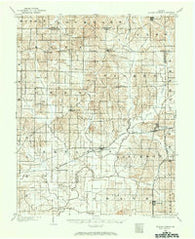 De Gonia Springs Indiana Historical topographic map, 1:62500 scale, 15 X 15 Minute, Year 1900