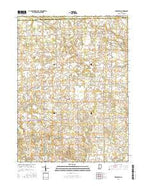 Deedsville Indiana Current topographic map, 1:24000 scale, 7.5 X 7.5 Minute, Year 2016 from Indiana Map Store