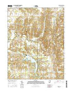 Deputy Indiana Current topographic map, 1:24000 scale, 7.5 X 7.5 Minute, Year 2016 from Indiana Map Store