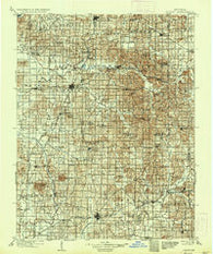 Ditney Indiana Historical topographic map, 1:125000 scale, 30 X 30 Minute, Year 1902