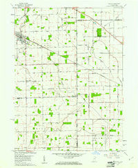 Dixon Indiana Historical topographic map, 1:24000 scale, 7.5 X 7.5 Minute, Year 1960