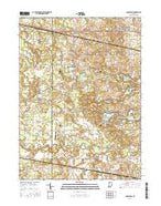 Donaldson Indiana Current topographic map, 1:24000 scale, 7.5 X 7.5 Minute, Year 2016 from Indiana Map Store