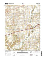 Eminence Indiana Current topographic map, 1:24000 scale, 7.5 X 7.5 Minute, Year 2016 from Indiana Map Store