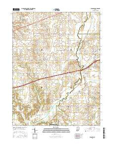 Eminence Indiana Current topographic map, 1:24000 scale, 7.5 X 7.5 Minute, Year 2016
