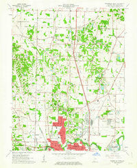 Evansville North Indiana Historical topographic map, 1:24000 scale, 7.5 X 7.5 Minute, Year 1961