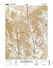 Evansville North Indiana Current topographic map, 1:24000 scale, 7.5 X 7.5 Minute, Year 2016 from Indiana Maps Store