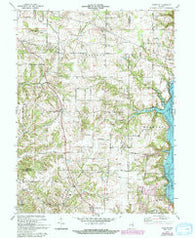 Everton Indiana Historical topographic map, 1:24000 scale, 7.5 X 7.5 Minute, Year 1972