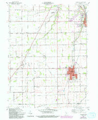 Fairmount Indiana Historical topographic map, 1:24000 scale, 7.5 X 7.5 Minute, Year 1960