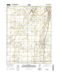 Fairmount Indiana Current topographic map, 1:24000 scale, 7.5 X 7.5 Minute, Year 2016