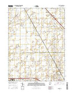 Fayette Indiana Current topographic map, 1:24000 scale, 7.5 X 7.5 Minute, Year 2016 from Indiana Map Store