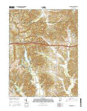 Folsomville Indiana Current topographic map, 1:24000 scale, 7.5 X 7.5 Minute, Year 2016 from Indiana Maps Store