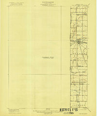 Fort Recovery Ohio Historical topographic map, 1:62500 scale, 15 X 15 Minute, Year 1918