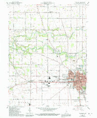 Frankfort Indiana Historical topographic map, 1:24000 scale, 7.5 X 7.5 Minute, Year 1961