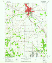 Franklin Indiana Historical topographic map, 1:24000 scale, 7.5 X 7.5 Minute, Year 1961